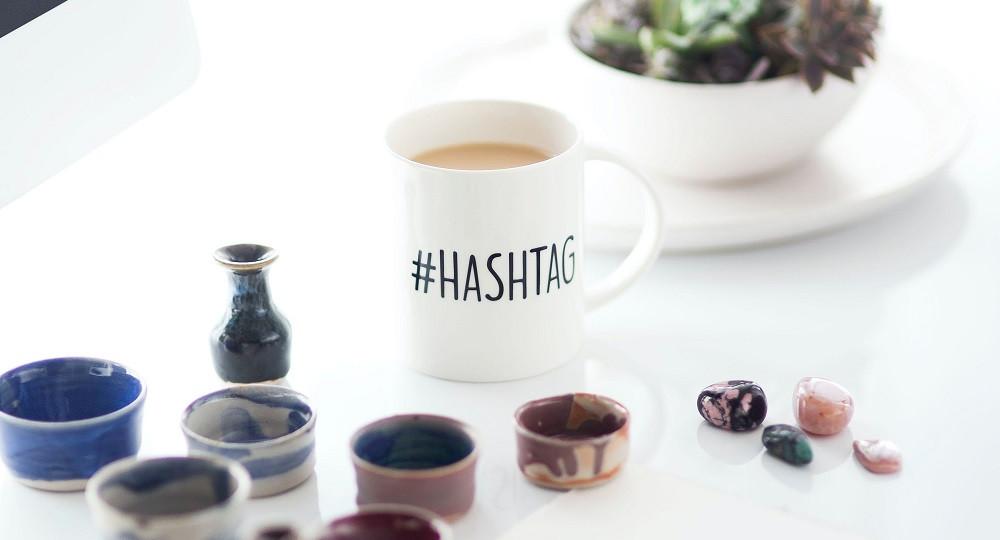 Tasse mit Aufdruck #HASHTAG