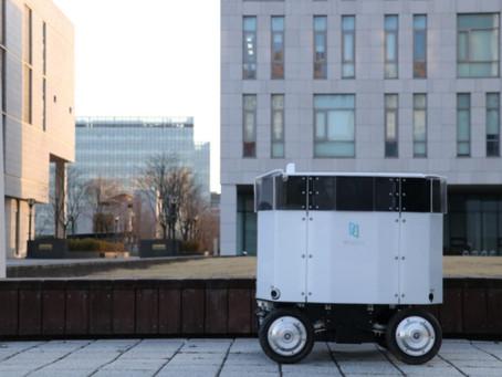 뉴빌리티 실외 주행로봇 '뉴비', 연대 송도캠퍼스 무인 배달 성공