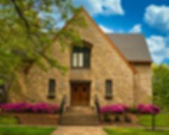 front of church - beautiful flowering bu
