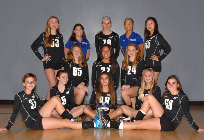 seal beach bolleyball club team 13 black