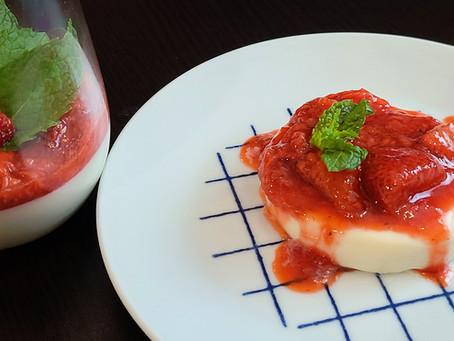 Keto Panna Cotta With Strawberry Sauce Recipe