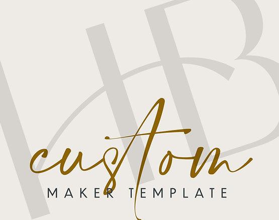 Custom Maker Template