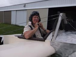 Charlie Radford's Eindecker Replica Flys