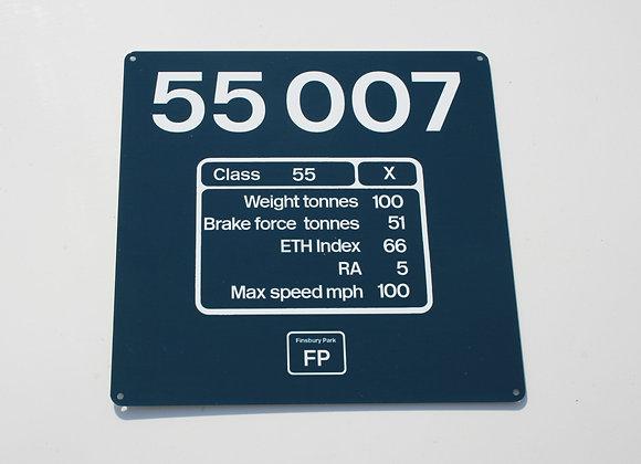Miniature Number Panel 55007