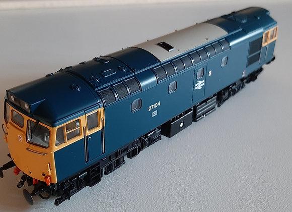 Heljan Class 27 27104 BR Blue Full Yellow Ends