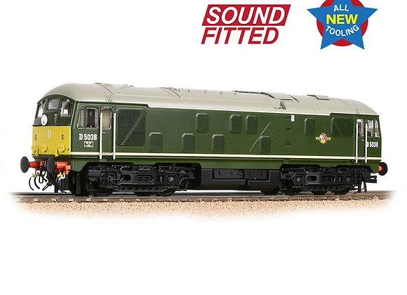 Bachmann 32-415SF Class 24/0 D5036 BR Green Livery