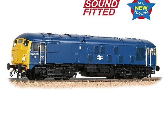 Bachmann 32-416SF Class 24/0 24035 BR Blue