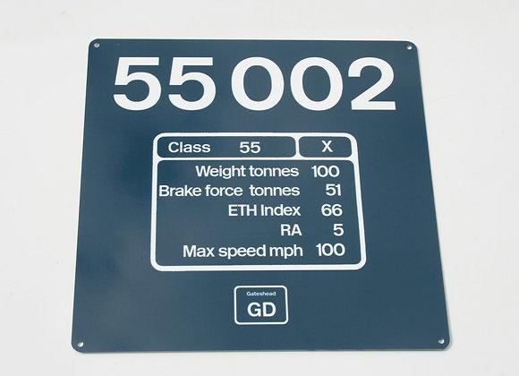 Miniature Number Panel 55002
