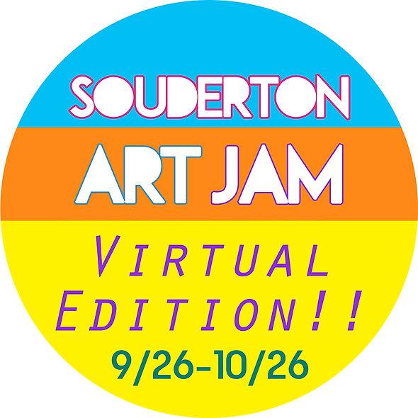 Art Jam logo round virtual edition - web