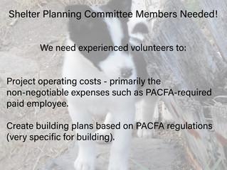 Volunteers Needed for Shelter Planning Committee