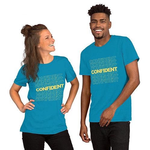 Confident Short-Sleeve Unisex T-Shirt (yellow)