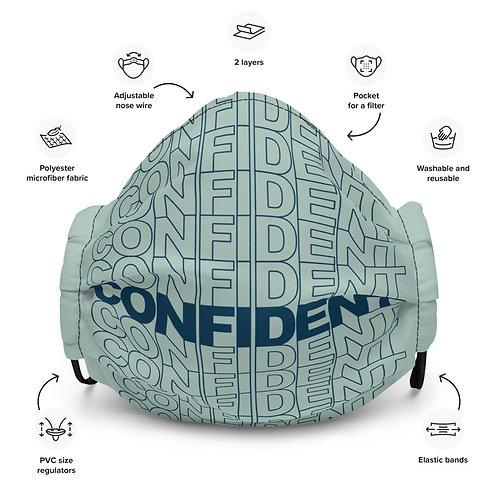 Premium Confident Face Mask (Navy & Ice Blue)