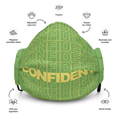 Premium Confident Face Mask (Yellow & Green)