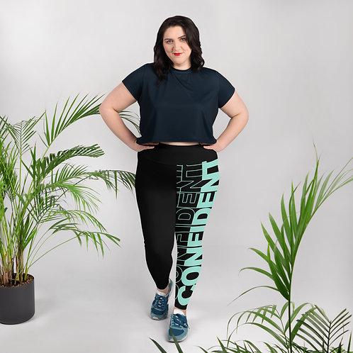 Confident Plus Size Leggings (Mint)