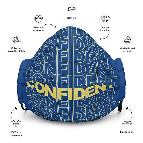 Premium Confident Face Mask (Yellow & Blue)