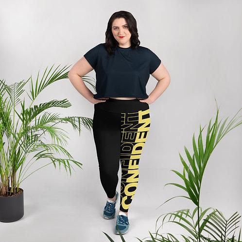 Confident Plus Size Leggings (Gold)