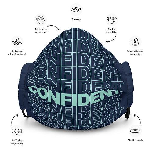 Premium Confident Face Mask (Mint & Navy)