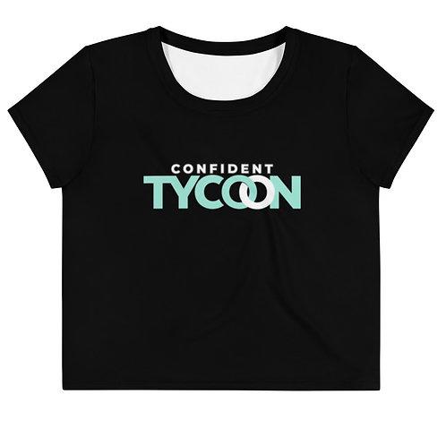 Confident Tycoon Plus Size Crop Tee