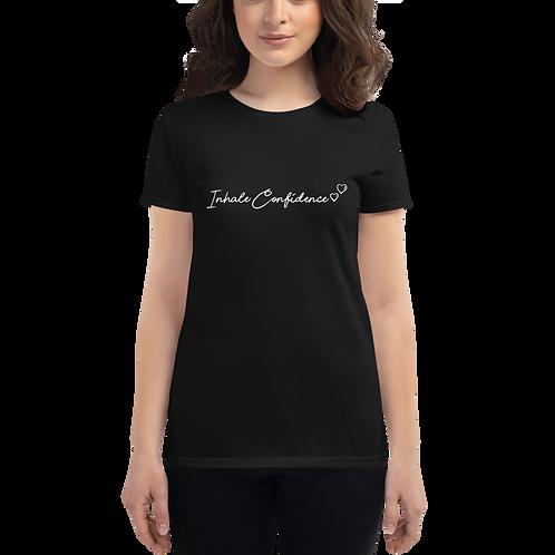 Inhale Confidence (white print) Women's short sleeve t-shirt copy