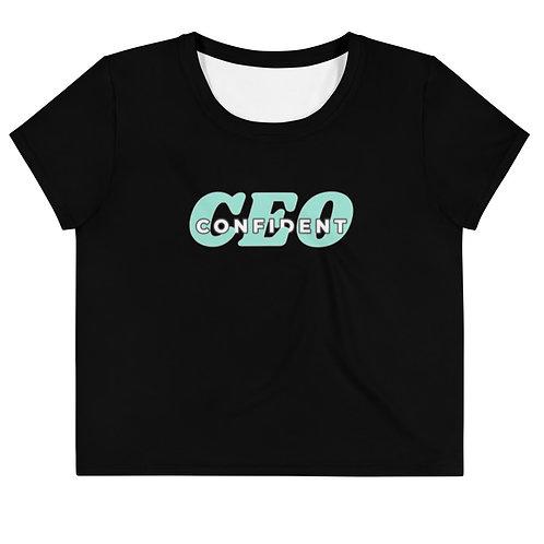 Confident CEO Plus Size Crop Tee