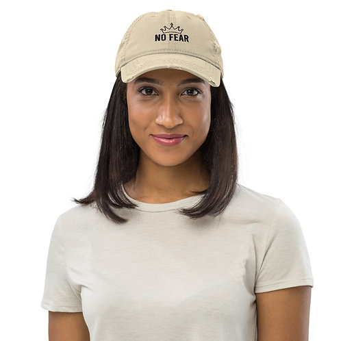 No Fear Distressed Dad Hat copy