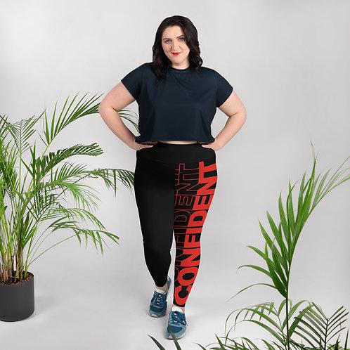 Confident Plus Size Leggings (Red)