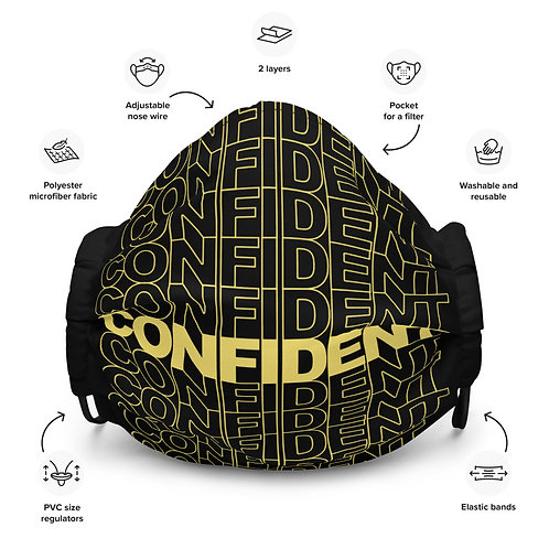 Premium Confident Face Mask (Yellow & Black)