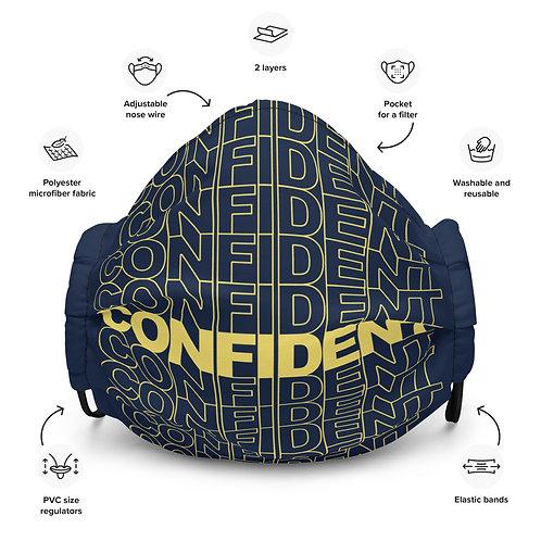 Premium Confident Face Mask (Yellow & Navy)