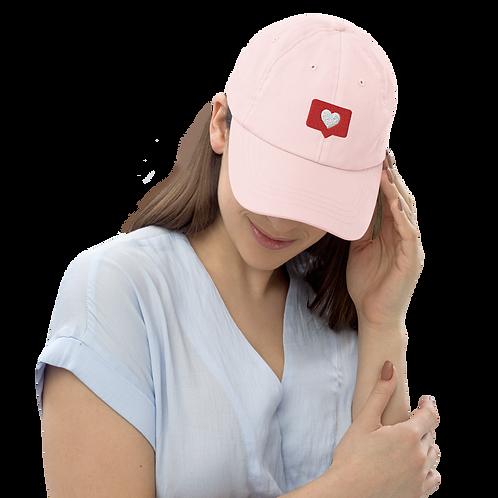 Heart notification Pastel baseball hat