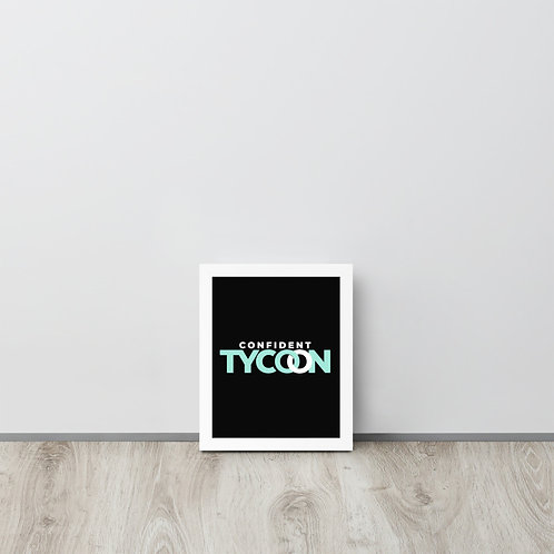 Confident Tycoon Framed poster