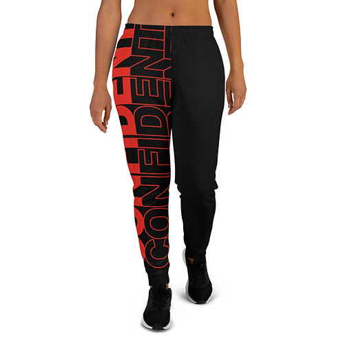 Confident Women's Joggers (Red)