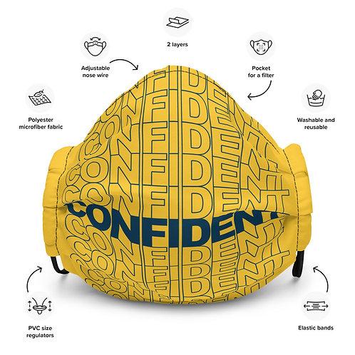 Premium Confident Face Mask (Navy & Yellow)