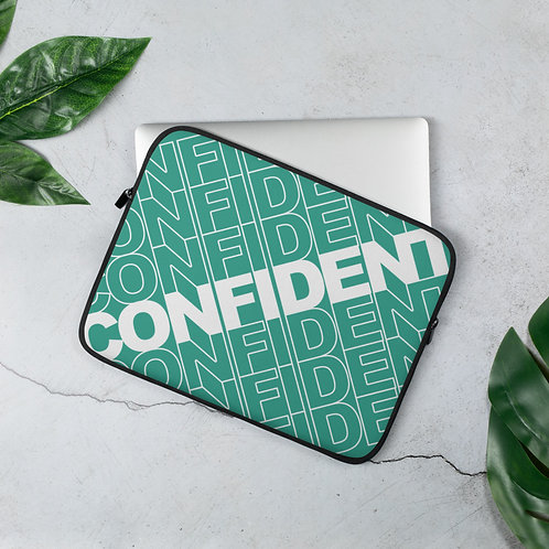Confident Laptop Sleeve (Teal)