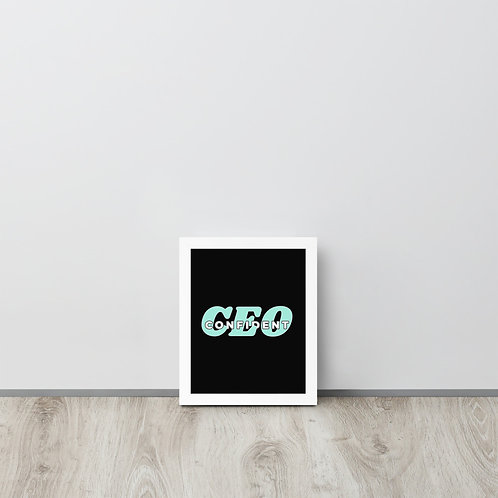Confident CEO Framed poster