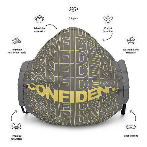 Premium Confident Face Mask (Yellow & Gray)
