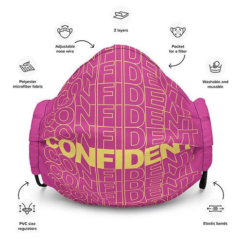 Premium Confident Face Mask (Yellow & Fuchsia)