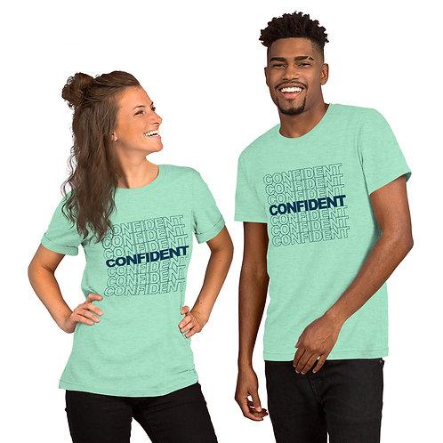 Confident Short-Sleeve Unisex T-Shirt (navy)