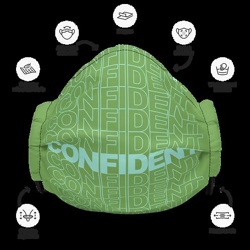 Premium Confident Face Mask (Mint & Green)