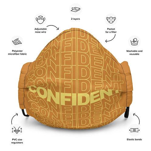 Premium Confident Face Mask (Yellow & Orange)