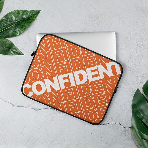 Confident Laptop Sleeve (Orange)