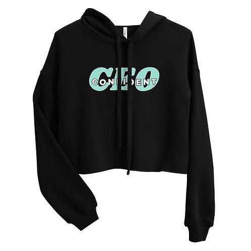 Confident CEO Crop Hoodie