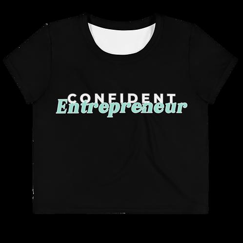 Confident Entrepreneur Plus Size Crop Tee