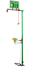 Hughes, Floor mounted combination shower