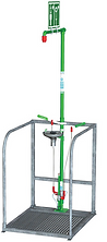 Hughes insulated shower with eye-face wa