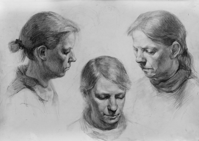Три головы с плечевым поясом