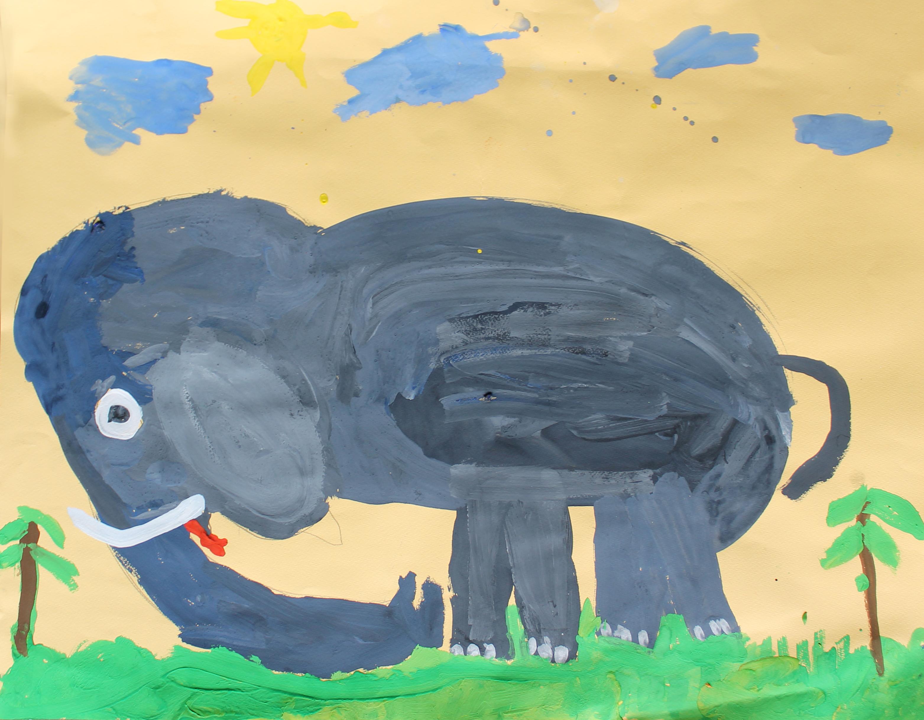 Грустный слон