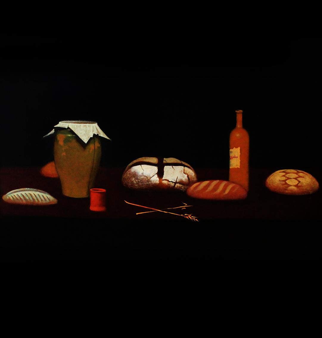 Натюрморт с пятью хлебами
