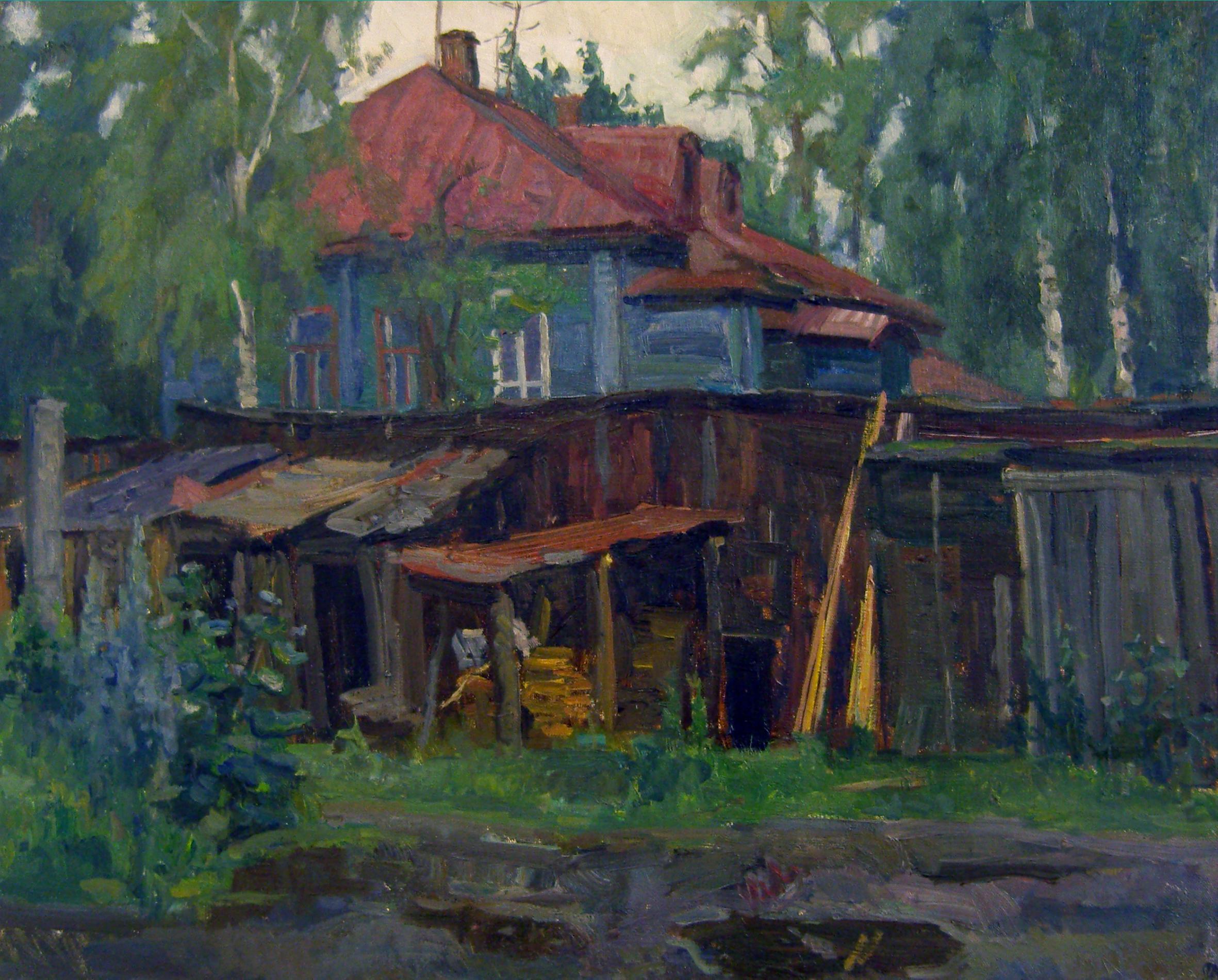 4.Старый двор(60х75)2008
