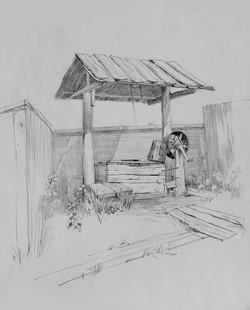 Колодец в деревне Морозово