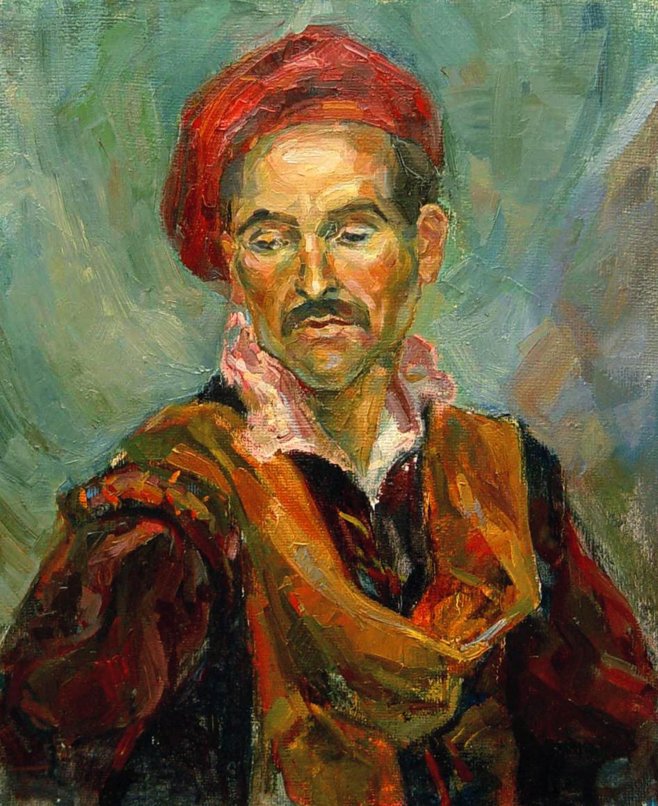 Портрет в красном берете